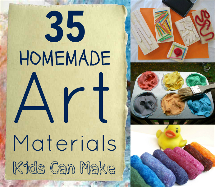 35 homemade art materials for kids of all ages thifty sue for Art from waste for kids