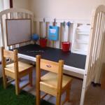 Re-purpose a Crib into a Desk!