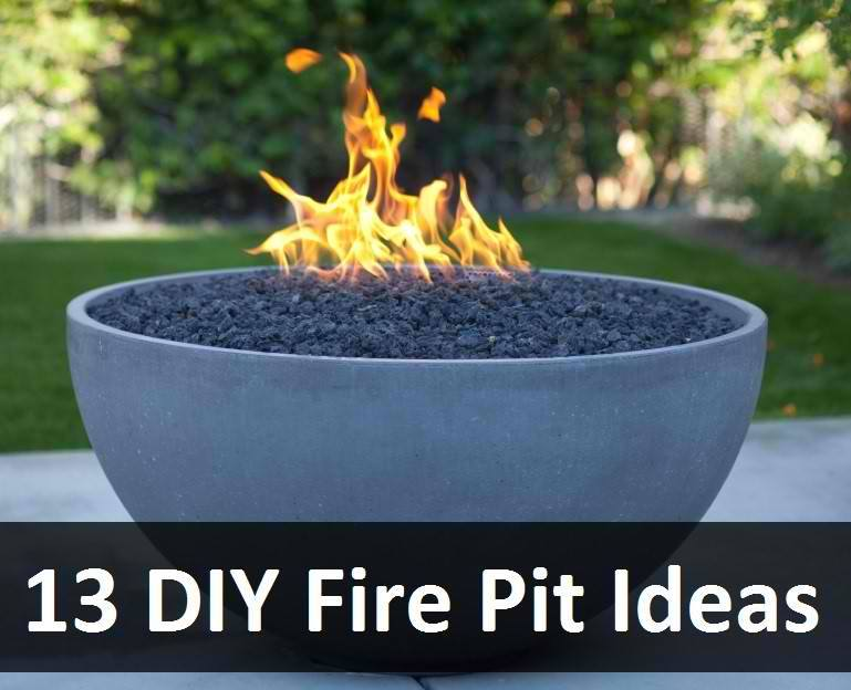 13 diy fire pit ideas thifty sue for Cheap easy fire pit ideas