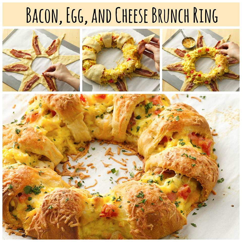 Bacon Egg & Cheese Brunch Ring Recipe! - Thifty Sue