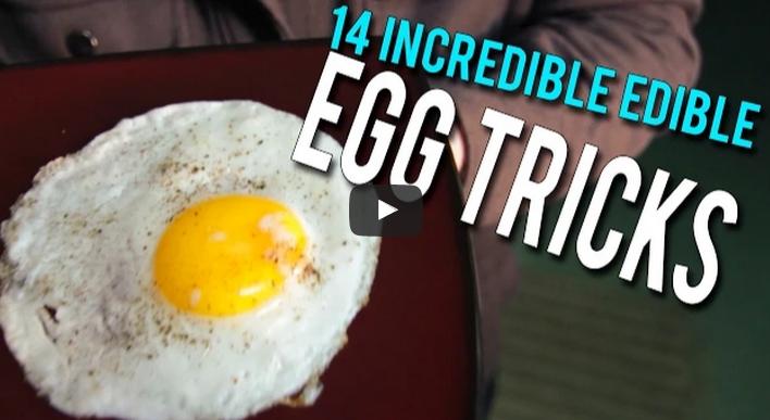14 edible egg tricks