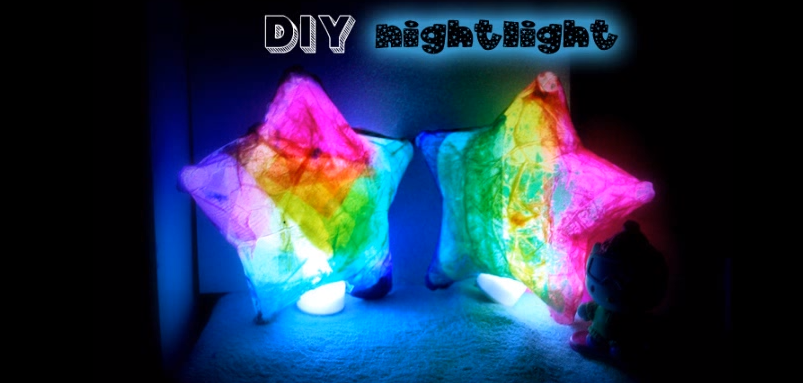 DIY nightlight for kids  Star shaped paper lanterns  CUTE   Luminary KIDS CRAFT   YouTube