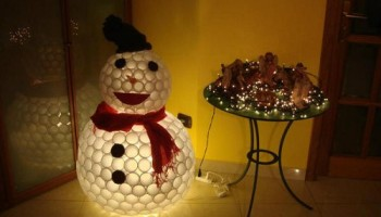 Weekend Workshop: DIY Plastic Cup Snowman
